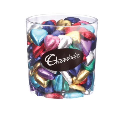 Chocolatier Wrapped Bulk Chocolate - Hearts Assorted Tub 1kg (Milk) Approx. 120