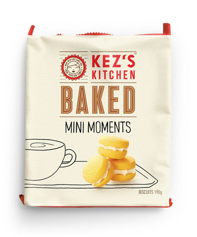 8 x Kez's Retail Pack - Mini Melting Moments Cookies Kezs