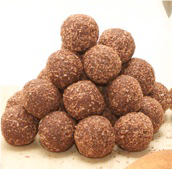 Addiction Food - Mint & Coconut Truffles Gluten Free and Vegan