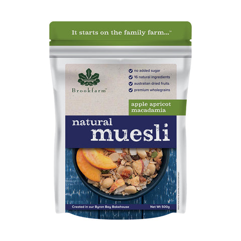 Brookfarm - Natural Macadamia Muesli with Apricot 500g x 6