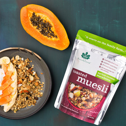Brookfarm - Toasted Macadamia Muesli with Apricot 500g x 6