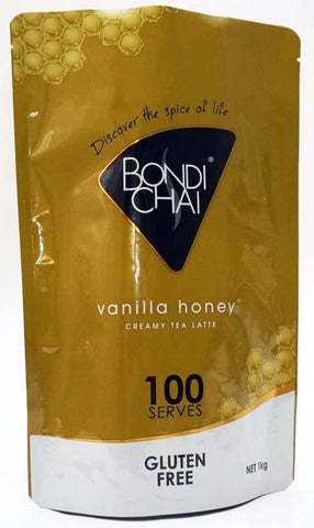 Bondi Chai Soft Pack 1kg - Vanilla Honey (Gluten Free) Chai Latte powder Bondi Chai