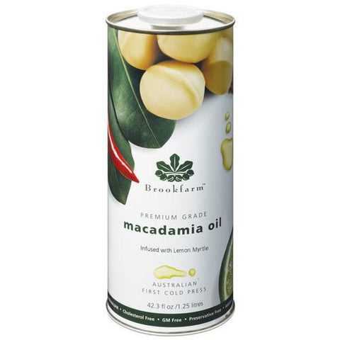Brookfarm Macadamia Oil 1.25l - Lemon Myrtle Infused Oil Macadamia Oil Brookfarm