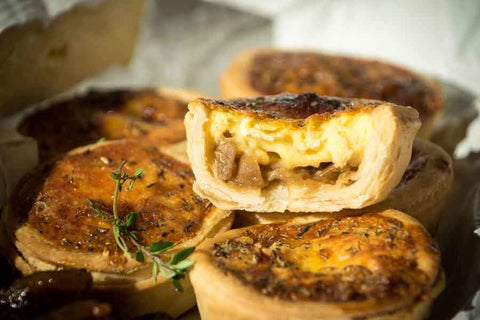 48 x Petit Gourmand Tart- Caramelised Onion & Camembert