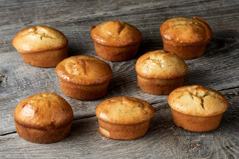 16 x Looma's Gluten Free Friands - Orange Poppy Seed Tarts, Cake Slices, Friands Loomas