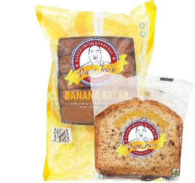 Papa Joe's - Banana Bread Individually Wrapped 40 x 100g (Vegan)