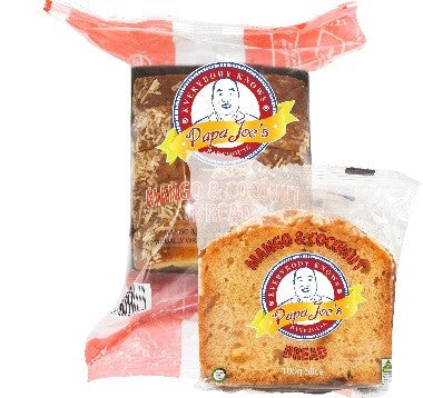 Papa Joes - Mango Coconut Bread Individually Wrapped 40 x 100g