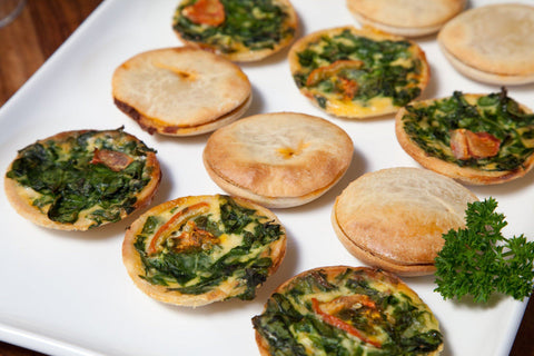 54 x Silly Yaks Party Spinach Quiche Gluten Free