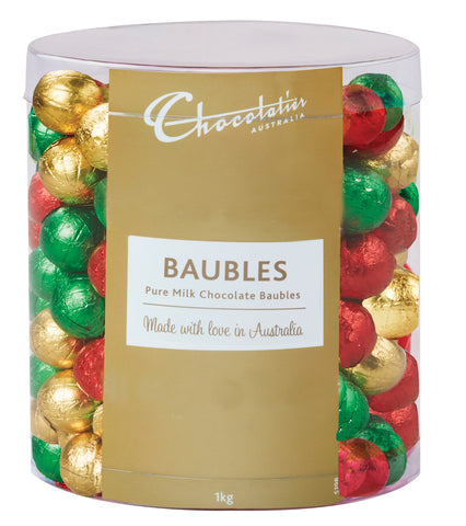 1 kg  x Chocolatier Baubles Assorted Foil Milk Chocolate (Approx 167) (EXP MAR 22)