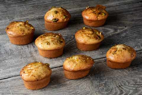 16 x Looma's Gluten Free Friands - Pistachio Tarts, Cake Slices, Friands Loomas