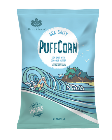 Brookfarm - Gluten Free Puff Corn Sea Salty 70gm x 8