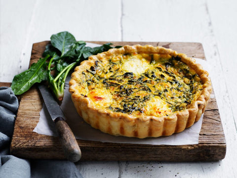 Posh Foods - Spinach Ricotta Quiche 8""