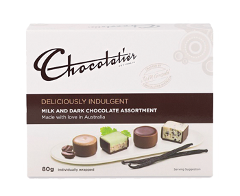 Chocolatier - Deliciously Indulgent Milk & Dark Assortment 12 x 80 gm (SHORT EXPIRY - NOV 2020)