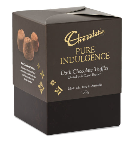 Chocolatier Gift Boxes - Dark Chocolate Truffles Dusted with Cocoa Powder 150gx6