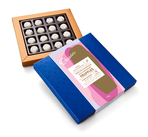 "6 x Chocolatier Pure Indulgence ""Marc De Champagne Truffles"" Dusted Milk"