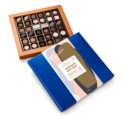 "6 x Chocolatier Pure Indulgence ""Ultimate Gift Box "" Milk & Dark Chocolates 360g Chocolates Chocolatier Australia"