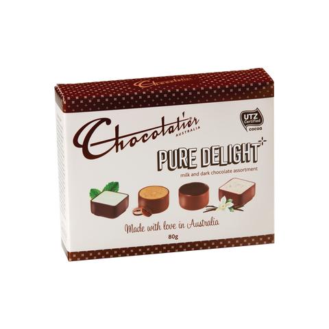 Chocolatier - Pure Delight Milk & Dark Assortment 80g x 12