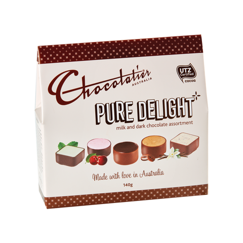 Chocolatier Gift Boxes - Pure Delight Milk & Dark Assortment 140g x 6