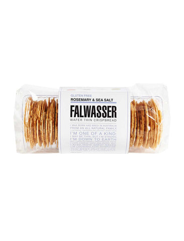 Falwasser - Gluten Free Wafer Thin Rosemary & Sea Salt Crispbread 120g x 12