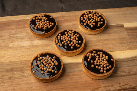 5 x Looma's Tart (8 cm) - Salted Caramel Tarts, Cake Slices, Friands Loomas