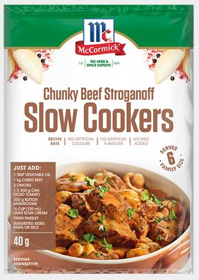 McCormick - Slow Cookers Chunky Beef Stroganoff Recipe Base 40g x 12