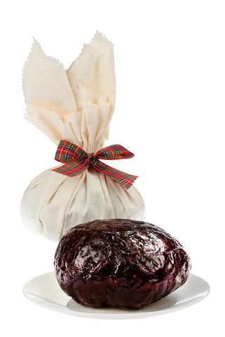 1 x Newcastle Pudding Lady Undecorated Traditional Round Christmas Pudding 1 kg Puddings Newcastle's Pudding Lady