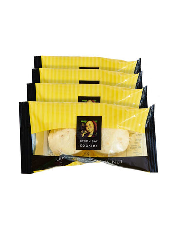 100 x Byron Bay Twin Pack Cookie - Lemon Macadamia Nut Shortbread TWIN Pack Byron Bay Cookie