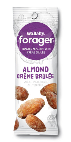 8 x Wallaby Forager - Crème Brulee Almonds (Gluten Free) Fruit & Nut Slices Wallaby