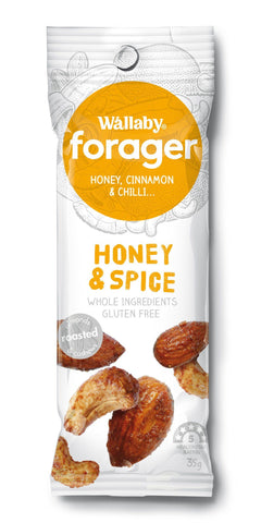 8 x Wallaby Forager - Honey & Spice (Gluten Free) Fruit & Nut Slices Wallaby