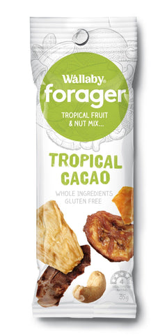 8 x Wallaby Forager - Tropical Cacao (Gluten Free) Fruit & Nut Slices Wallaby