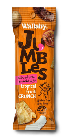 8 x Wallaby Jumbles - Tropical Fruit Crunch (Gluten Free )