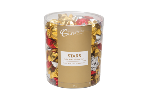 875g x Chocolatier Stars Assorted Foil Milk Chocolate (Approx 125)