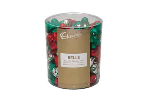 Chocolatier - Assorted Foil Milk Chocolate Bells 1kg (Approx. 133)