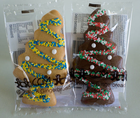 100 x Christen's Gingerbread Trees Mixed Gingerbread Christens Gingerbread