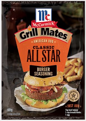 McCormick - Grill Mates All Star Burger Seasoning 40g x 12