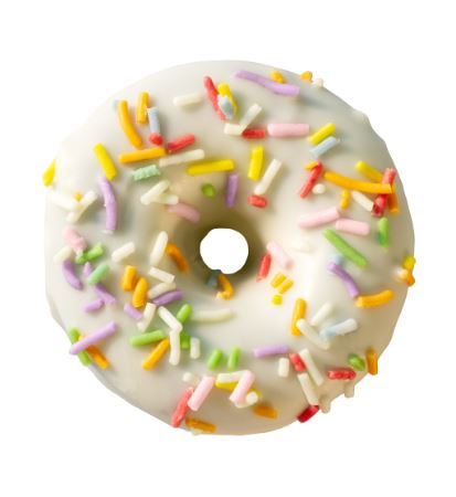 12 x NOSHU Donuts Birthday Cake (Individually Wrapped, Gluten & Grain Free, No Added Sugar)