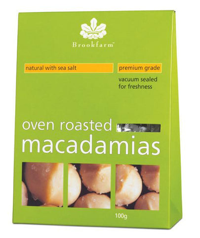 12 x Brookfarm Macadamia Nuts - Oven Roasted with Sea salt Muesli/Bars Brookfarm
