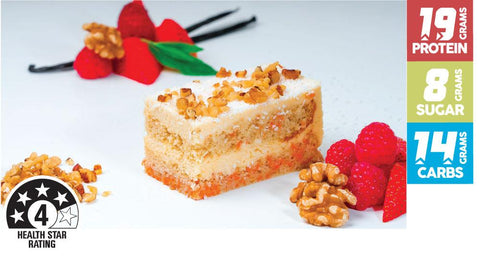 16 x The Healthy Patisserie Protein Carrot Cake Slice