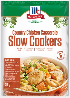 McCormick - Slow Cookers Country Chicken Casserole Recipe Base 40g x 12