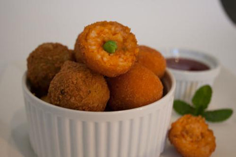 133 x Chefs Edge Small Arancini - Bolognaise with Peas & Mozzarella Frozen Savouries Chefs Edge