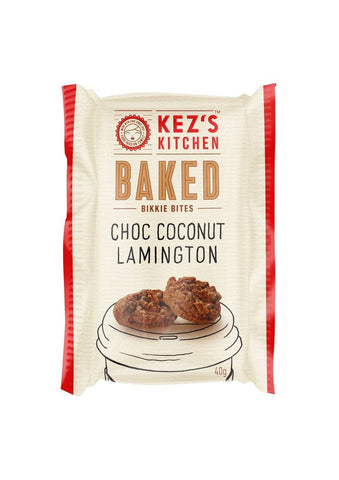 50 x Kez's Bites - Choc Coconut Lamington Bites Individually Wrapped Bites Kezs