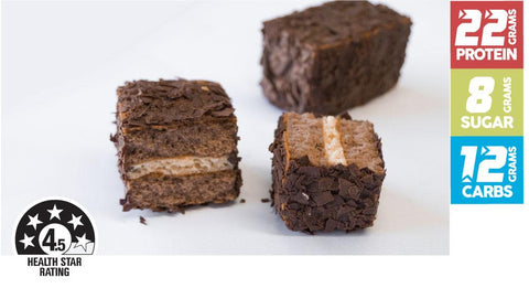 15 x The Healthy Patisserie Protein Double Choc Lamington Cake