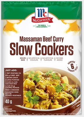 McCormick - Slow Cookers Massaman Beef Curry Recipe Base 40g x12
