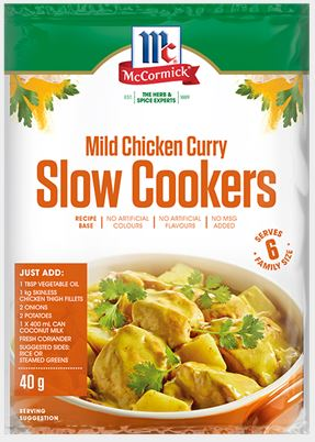 McCormick - Slow Cookers Mild Chicken Curry Recipe Base 40g x 12