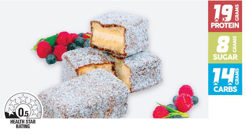 15 x The Healthy Patisserie Protein Original Lamington Cake