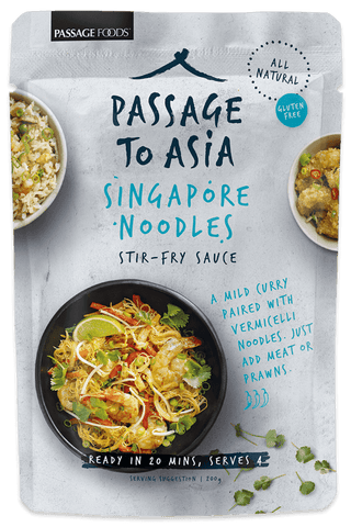 Passage Foods - Singapore Noodles Stir Fry Sauce 200g x 6
