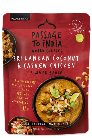 Passage Foods - Coconut & Cashew Curry 375g x 6