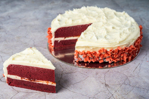 Loomas Red Velvet Cake 8 inch Tarts, Cake Slices, Friands Loomas