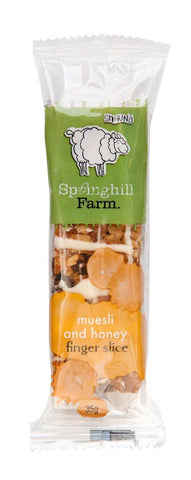 Springhill Farm Muesli and Honey Individually Wrapped Finger Slice 35g x 18 pieces