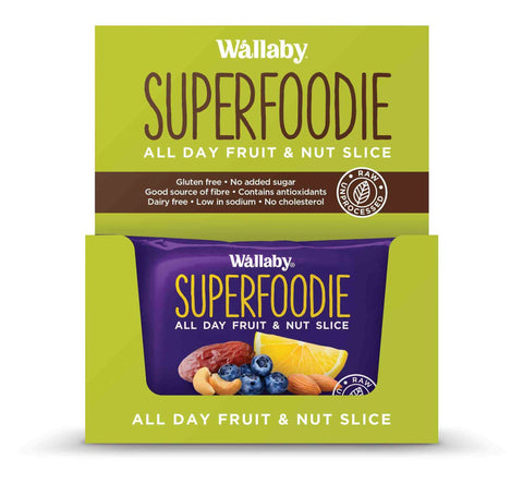 8 x Wallaby All Day Fruit and Nut Slices - Blueberry Lemon (Gluten Free) Fruit & Nut Slices Wallaby